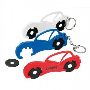 Schlüsselanhänger mit Einkaufswagenchip als Einkaufswagenchiphalter