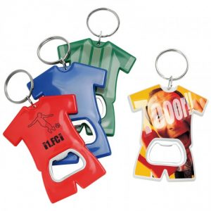 Schlüsselanhänger mit Logo Trikot und Flaschenöffner